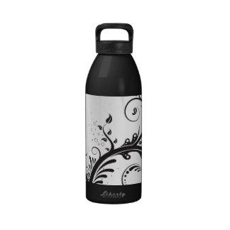 Black & White Print Water Bottle