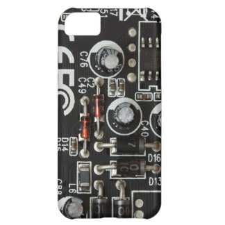 Black & White Printed Circuit Board iPhone 5C Cover