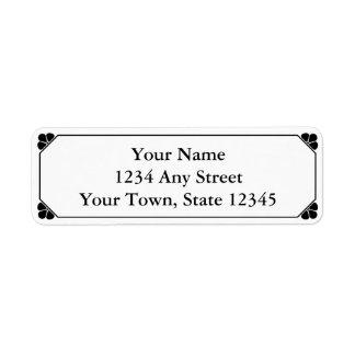 Black & White Printed Return Address Labels