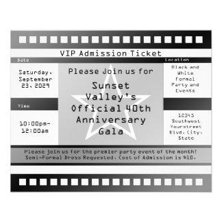 Black/White Printed Star Ticket Flyer