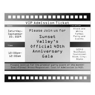 Black/White Printed Ticket Flyer