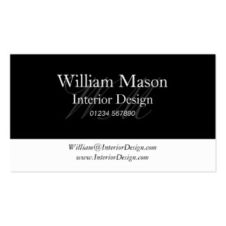 Black White Professional Business Card