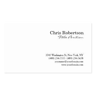 Black White Professional Simple Business Card