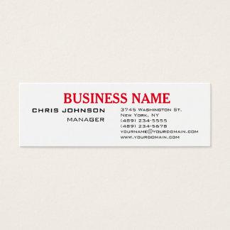 Black White Professional Slim Business Card