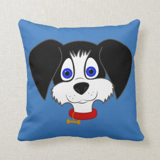 Black & White Puppy Square Pillow