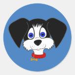 Black & White Puppy Stickers