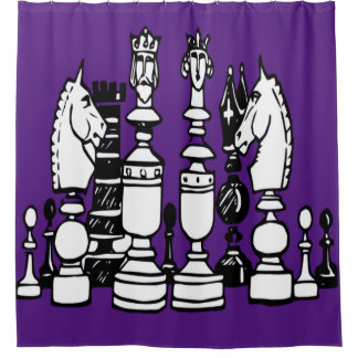 Purple And Black Shower Curtains | Zazzle