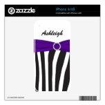 Black White Purple Zebra Stripes iPhone4/4s Skin Decals For iPhone 4S