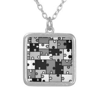 Black & White Puzzle Necklace - by Fern Savannah