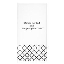 Black White Quatrefoil Pattern Card