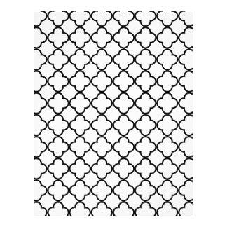 Black White Quatrefoil Pattern Flyer