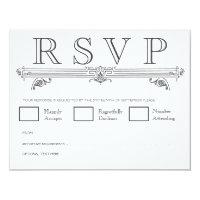 Black &amp; White Quatrefoil Wedding RSVP Cards (<em>$2.06</em>)