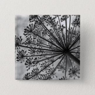 Black & White Queen Anne's Lace Button