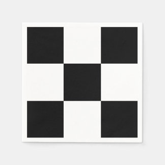 Black White Race Checkerboard Squares Custom Color Napkin