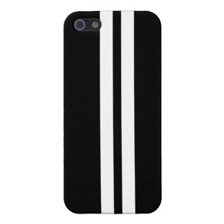 Black & White Racing Stripe iPhone 5 Case