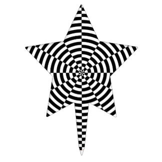 Black & White Radiation by Kenneth Yoncich Cake Topper