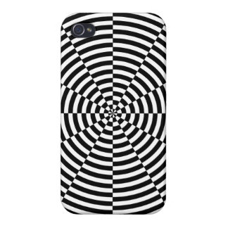 Black & White Radiation by Kenneth Yoncich Case For iPhone 4