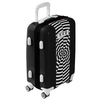 Black & White Radiation by Kenneth Yoncich Luggage