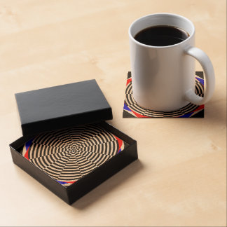 Black & White Radiation Beverage Coaster