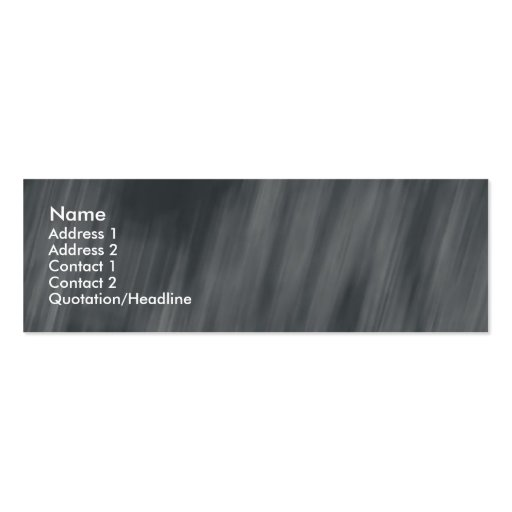 black white rain pattern skinny profile cards business card template