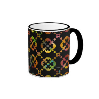 Black & White Rainbow Cross Mug
