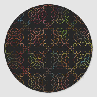 Black & White Rainbow Cross Sticker