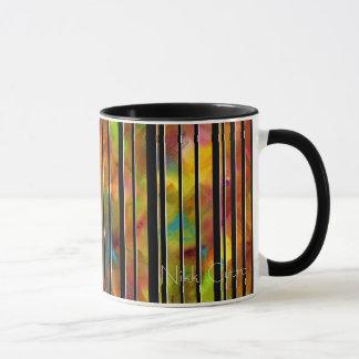 Black & White Rainbow Lines Mug
