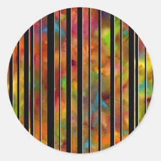 Black & White Rainbow Lines Sticker