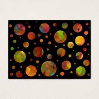 Black & White Rainbow Polka Dot Business Card