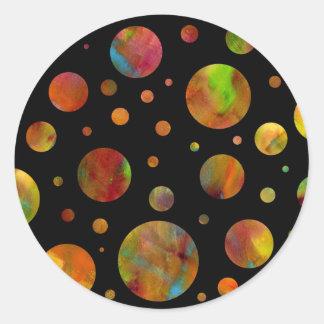 Black & White Rainbow Polka Dot Sticker