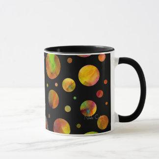 Black & White Rainbow Polka Dots Mug