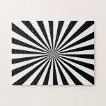 Black & White Rays Jigsaw Puzzle