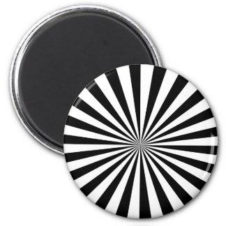 Black & White Rays Magnet