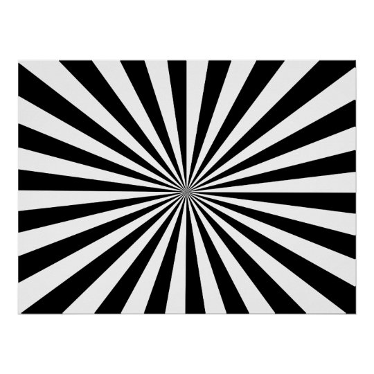 Black & White Rays Poster