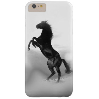 Black White Rearing Horse Silhouette Barely There iPhone 6 Plus Case
