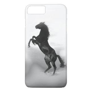 Black White Rearing Horse Silhouette iPhone 7 Plus Case