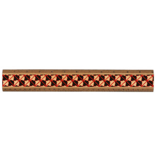 Black White Red Abstract Walnut Ruler