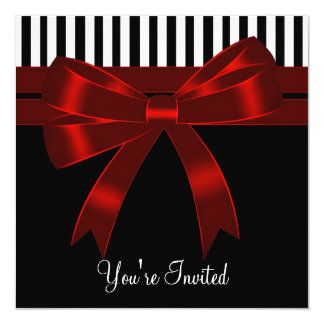 Black White Red All Occasion Party Card