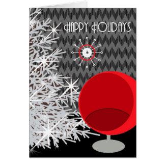 Black White Red Art Christmas Card