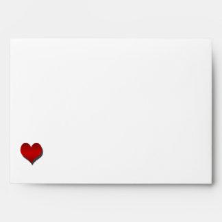 Black White Red Bohemian Posh Wedding Envelope