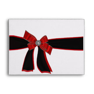 Black,White,Red,Bow Rhinestone Envelope