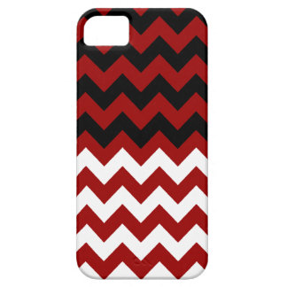black, white & red chevron ~ patterns iPhone 5 cover