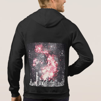 Black, White & Red Comic Style City Skyline Pullover