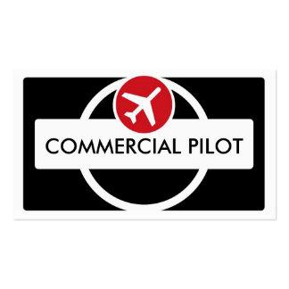 Black white red custom pilot business cards