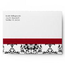 Black, White, & Red Damask Occasion Envelope
