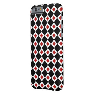 Black, White, Red Diamond Pattern Barely There iPhone 6 Case