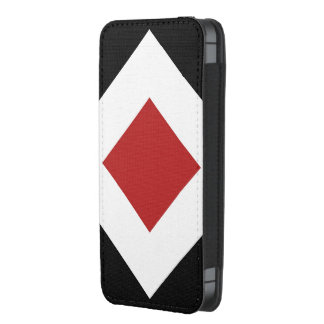 Black, White, Red Diamond Pattern iPhone 5 Pouch