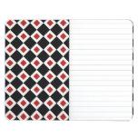 Black, White, Red Diamond Pattern Journals