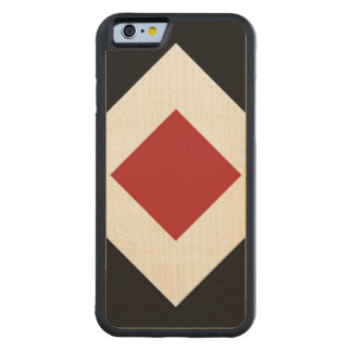 Black, White, Red Diamond Pattern Carved® Maple iPhone 6 Bumper