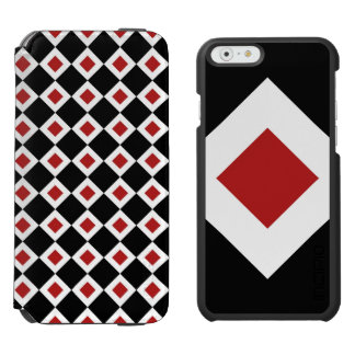 Black, White, Red Diamond Pattern Incipio Watson™ iPhone 6 Wallet Case
